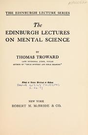 Edinburgh Lectures on Mental Science