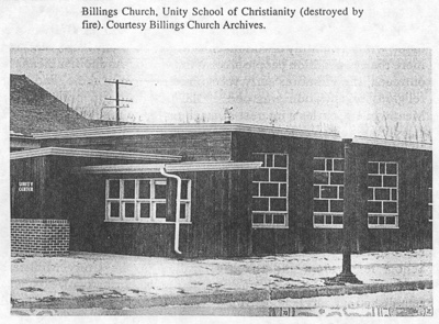 Unity Church in Billings destroyed later by fire
