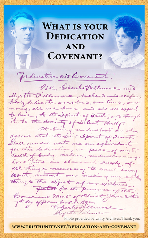 Dedication and Covenant postcard from TruthUnity