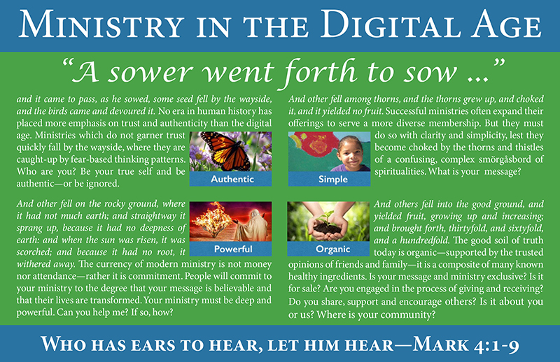 Ministry in the Digital Age postcard from TruthUnity