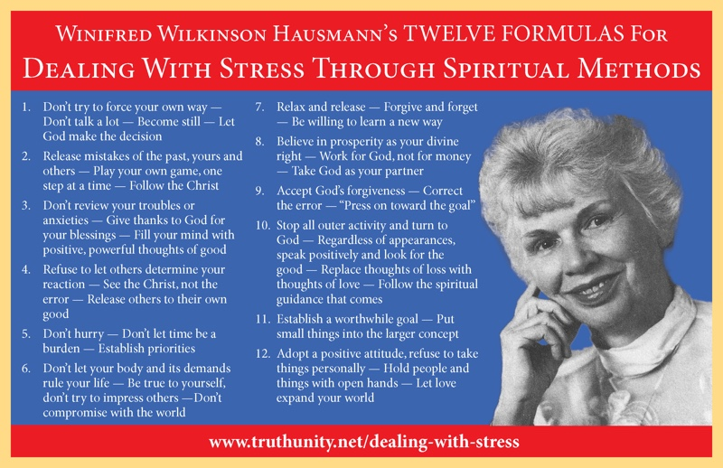 Dealing With Stress postcard from TruthUnity