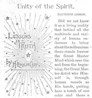Banner for 1895 July issue of Unity Magazine