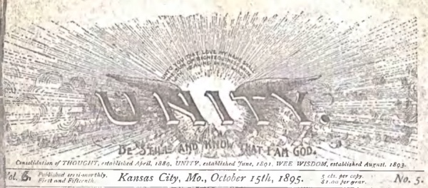 Header for 1895 October 15 Unity Magazine