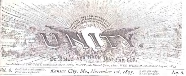 Header for 1895 November 01 Unity Magazine