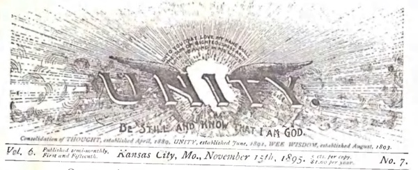 Header for 1895 November 15 Unity Magazine