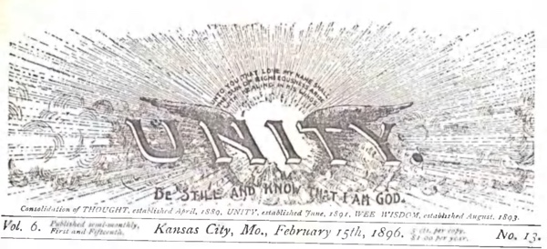 Header for 1896 February 15 Unity Magazine