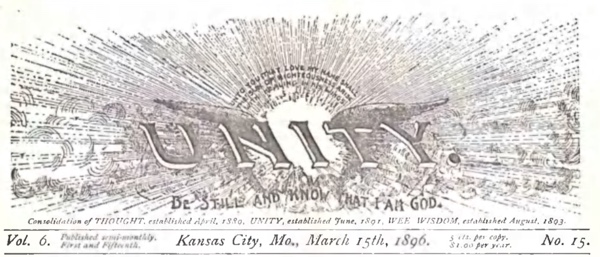 Header for 1896 March 15 Unity Magazine