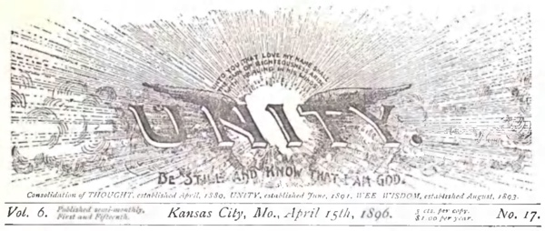 Header for 1896 April 15 Unity Magazine