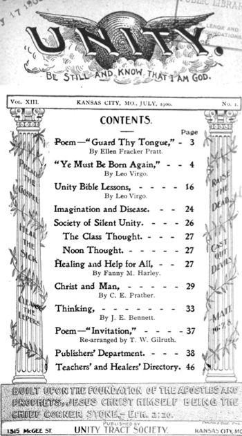 1900 July issue of Unity Magazine