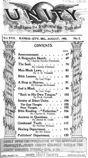 1902 August issue of Unity Magazine