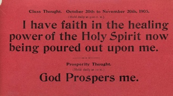 Class Thought in 1905 October Unity Magazine