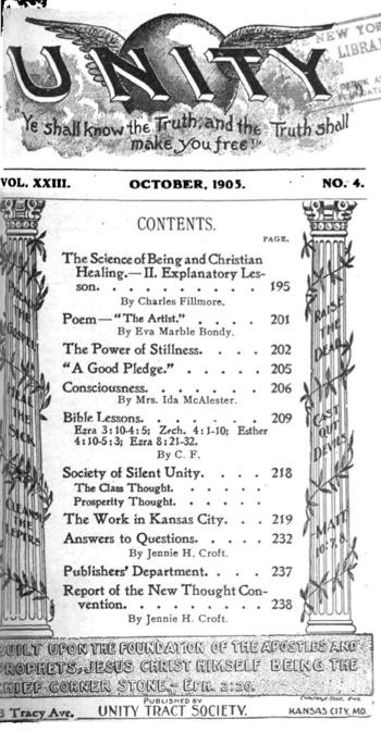 1905 October issue of Unity Magazine