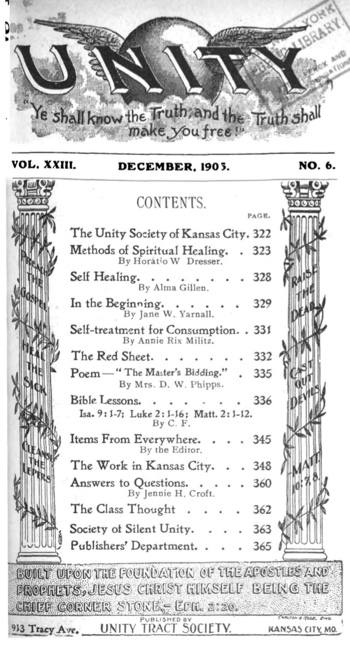 1905 December issue of Unity Magazine