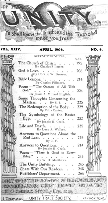 1906 April issue of Unity Magazine