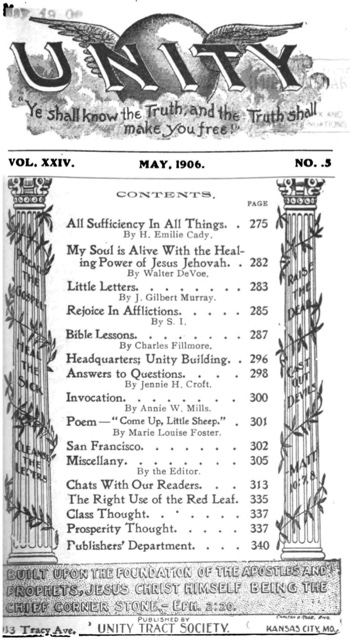 1906 May issue of Unity Magazine