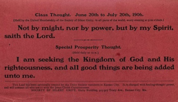 Class Thought in 1906 June Unity Magazine