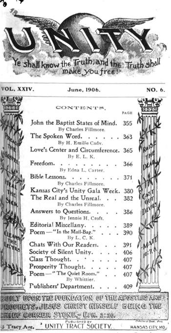 1906 June issue of Unity Magazine