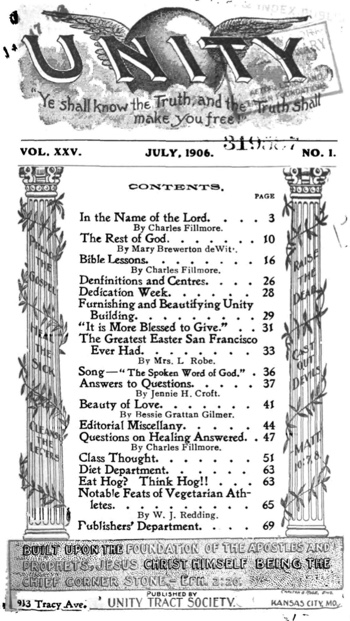 1906 July issue of Unity Magazine