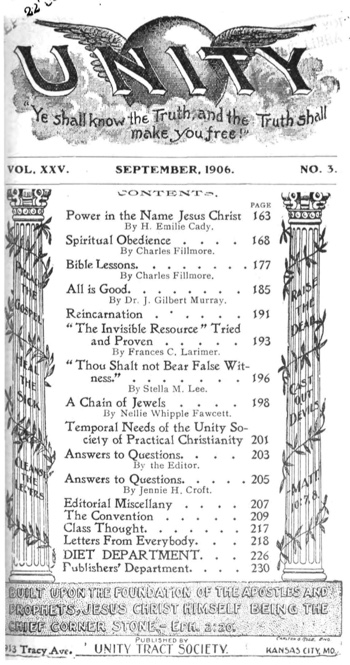 1906 September issue of Unity Magazine