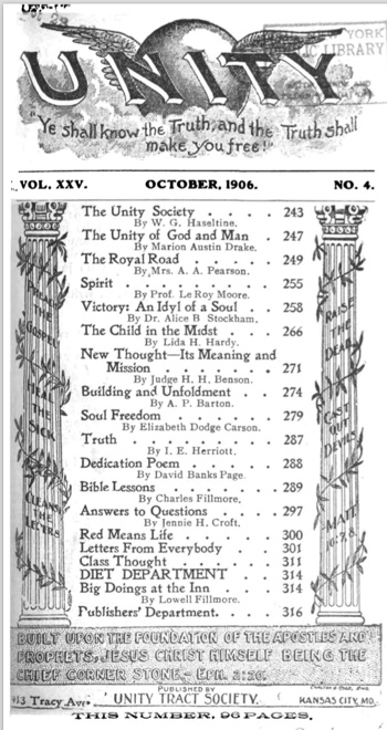 1906 October issue of Unity Magazine