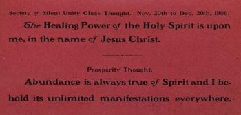 Class Thought in 1906 November Unity Magazine