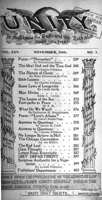 1906 November issue of Unity Magazine