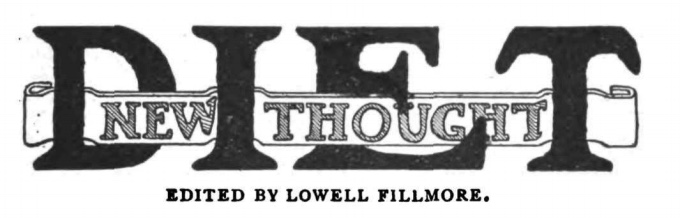 New Thought Diet in 1906 November Unity Magazine