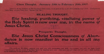 Class Thought in January 1907 Unity Magazine