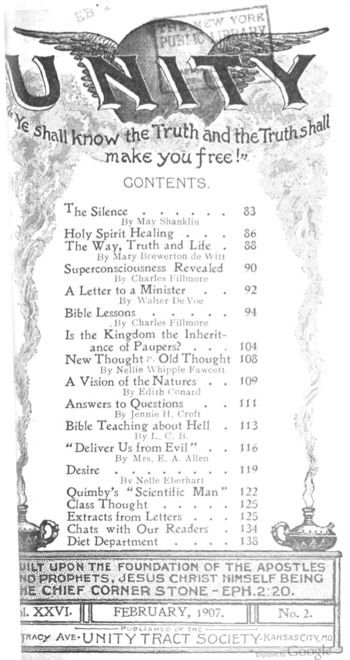 February 1907 issue of Unity Magazine