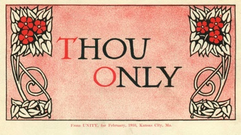 Class Thought in 1910 February Unity Magazine