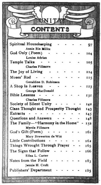 1910 February issue of Unity Magazine