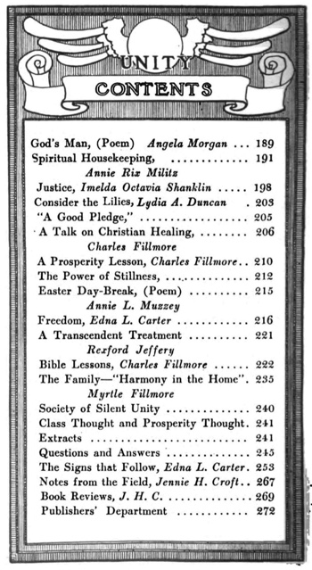1910 March issue of Unity Magazine