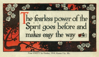 Class Thought in 1910 October Unity Magazine