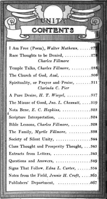 1910 October issue of Unity Magazine