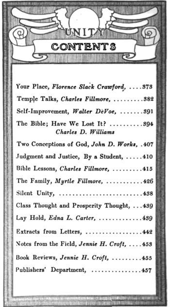 1910 November issue of Unity Magazine