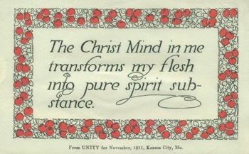 Class Thought in 1911 November  Unity Magazine