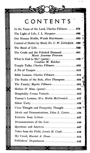 1911 November issue of Unity Magazine
