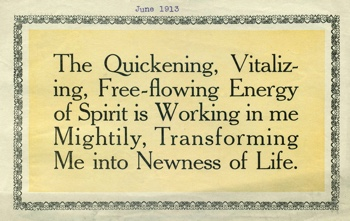 Class Thought in 1913 June Unity Magazine