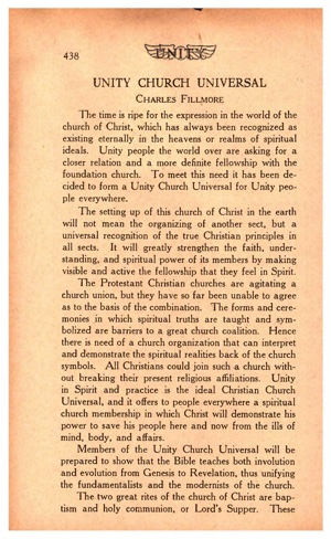 Unity Magazine May 1924 Unity Church Universal