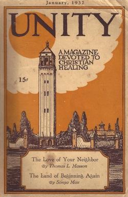 Unity Magazine January 1932 Cover
