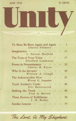 June 1950 issue of Unity Magazine