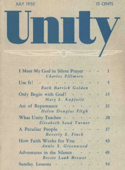 July 1950 issue of Unity Magazine