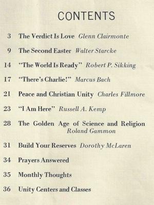 April 1970 issue of Unity Magazine