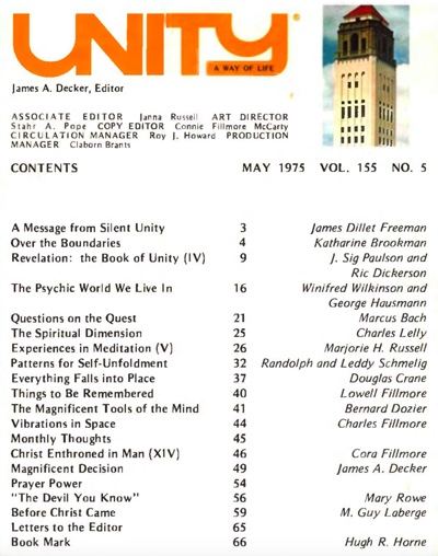 May 1975 issue of Unity Magazine