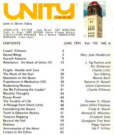 June 1975 issue of Unity Magazine