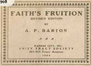 A P Barton Faith\s Fruition Cover