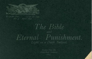 A P Barton The Bible and Eternal Punishment Light on a Dark Subject Cover