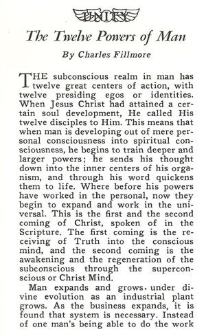 Charles Fillmore The Twelve Powers of Man