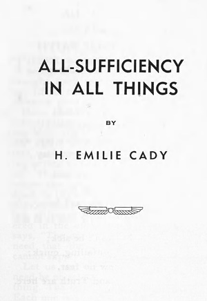 Emilie Cady All Sufficiency In All Things Cover