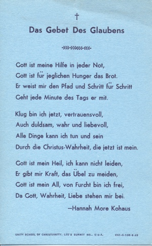 The Prayer of Faith in German